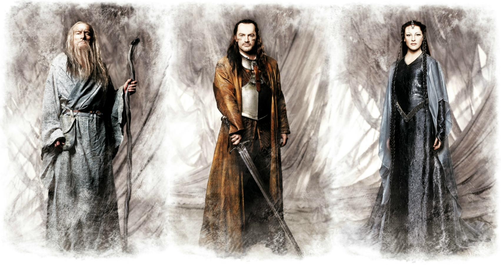 Lord of the Rings, Gandalf - Andrew Jarvis, Aragorn - Jérome Pradon and Arwen - Rosalie