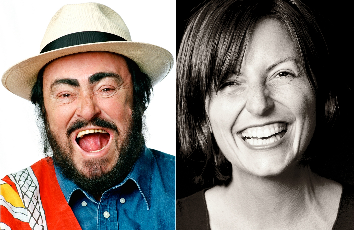Luciano Pavarotti and Davina